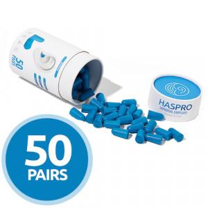 Беруши пенопропиленовые - Haspro Tube50 (голубые)
